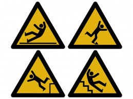 slip and fall warnings